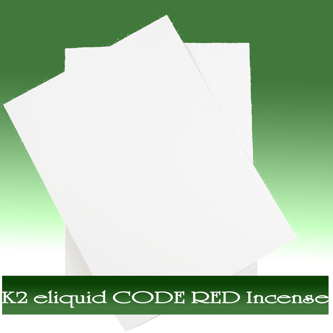 K2 e-liquid CODE RED Incense On Paper Online